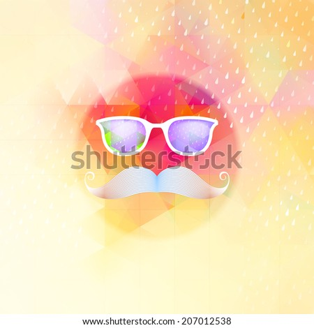 Retro glasses with reflection, Geometric shapes and rain. And also includes EPS 10 vector - stock vector
