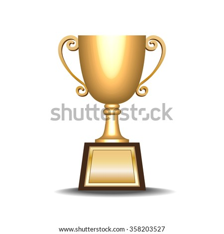 retro golden trophy vector