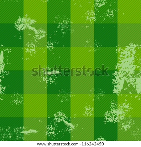 Retro green textile seamless pattern