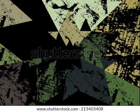 retro grunge background on black - stock vector