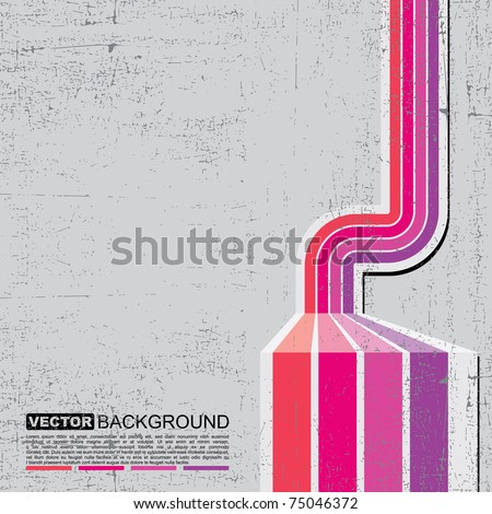Retro grunge background - vector - stock vector