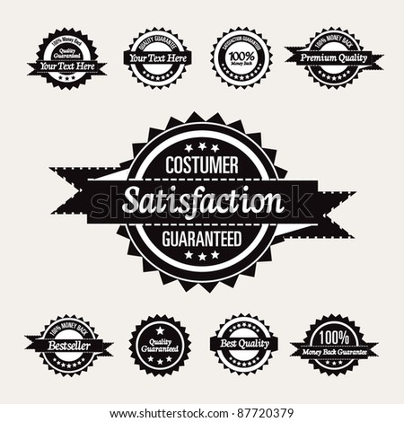 Retro High Quality Labels Collection - stock vector