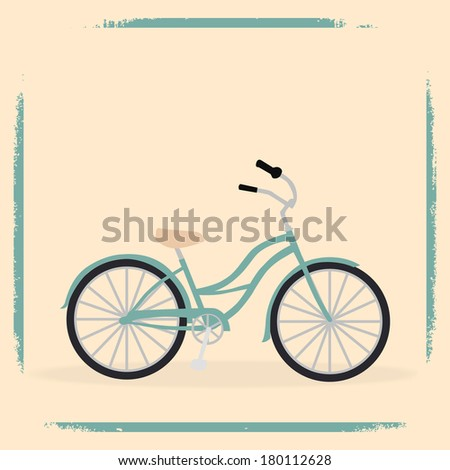 retro hipster bicycle background illustration vector format