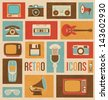Retro Icon Set - stock photo