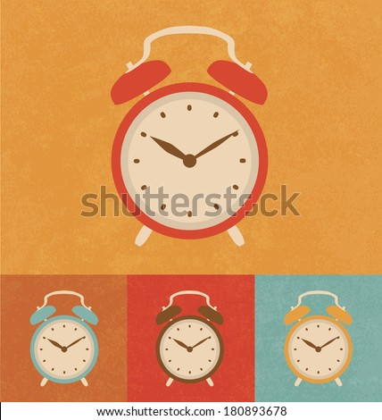 Retro Icons - Classic Alarm Clock - stock vector