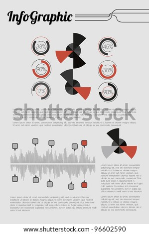 Retro Info Graphic - stock vector