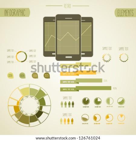 Retro info graphics - stock vector
