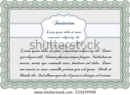 Retro invitation template. Superior design. Printer friendly. Customizable, Easy to edit and change colors. - stock vector