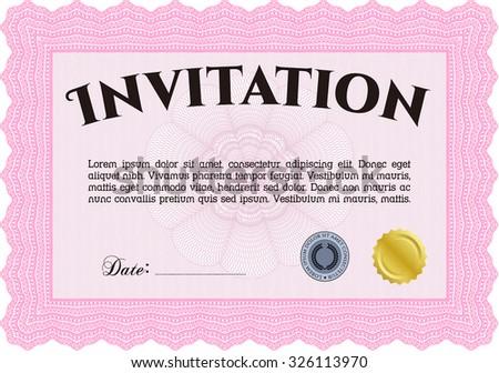 Retro invitation. With background. Excellent design. Vector illustration. - stock vector