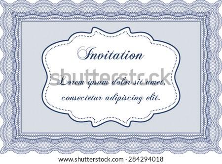 Retro invitation. With guilloche pattern. Elegant design. Vector illustration. - stock vector