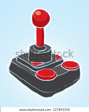 retro joystick - stock vector