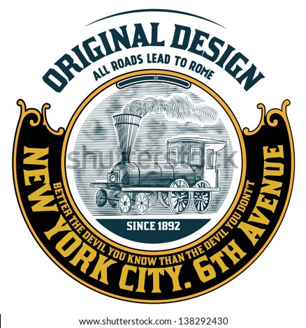 Retro label - stock vector