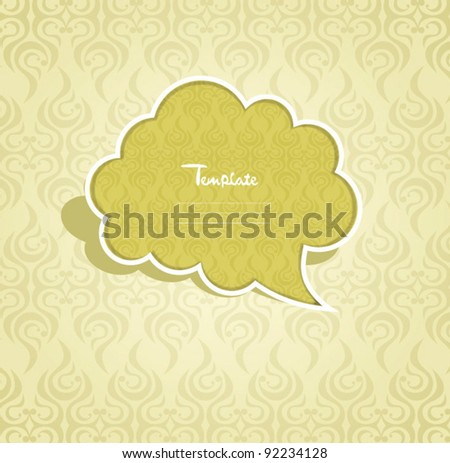 Retro label cover - stock vector