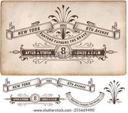Retro label. Design elements. Vector - stock vector
