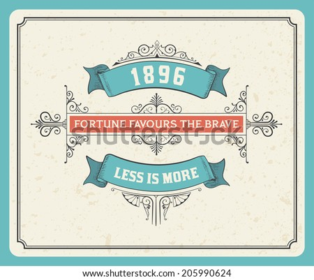 Retro label. Elements separated by layers. - stock vector