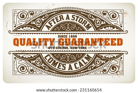 Retro label, Vector file. Coffee drops details. Organized by layers. - stock vector