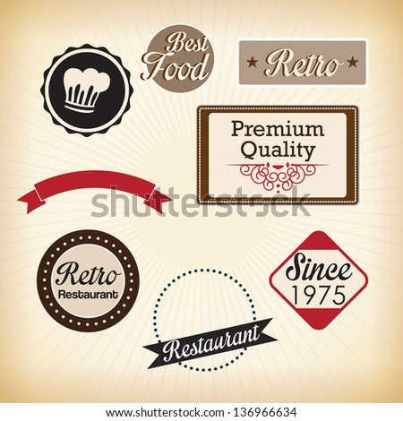 Retro labels ( quality certificate, and guaranteed) Vector illustrations