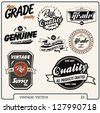 Retro labels set. Vintage labels collection.high grade quality vector label elements. - stock