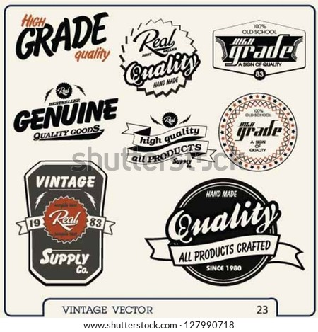 Retro labels set. Vintage labels collection.high grade quality vector label elements. - stock vector