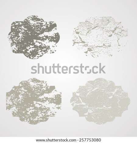 Retro Labels. Vintage Labels Collection. Grunge Distressed Texture. Cracked Texture. Vector illustration.  - stock vector
