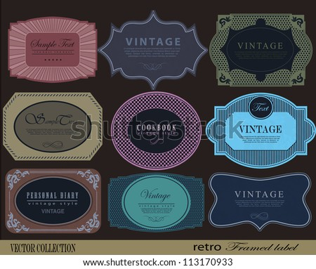 retro Labels with retro vintage styled design