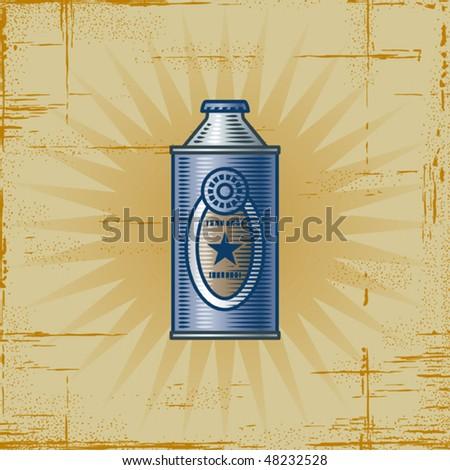 Retro Lemonade Can. Vector - stock vector