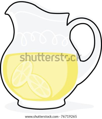 Lemonade Pitcher Coloring Page