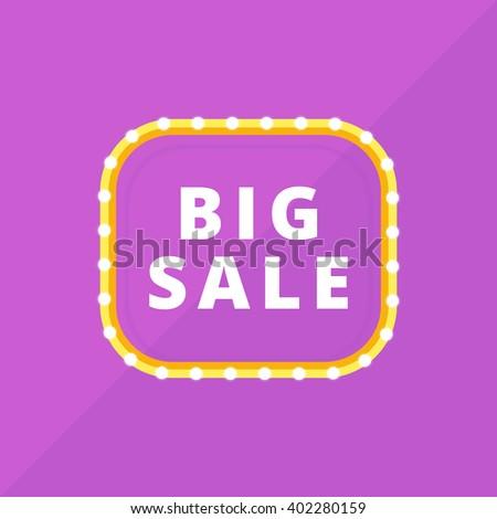 Retro Light Frame Bulbs Sale Discount Stock Vector 402280159 ...