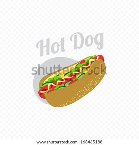 Retro Look Hot Dog - stock vector