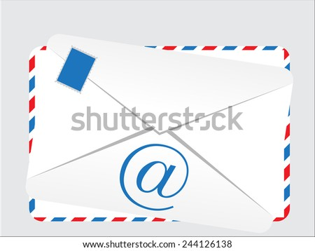 Retro looking envelope that can be used for e-mail messages - stock vector