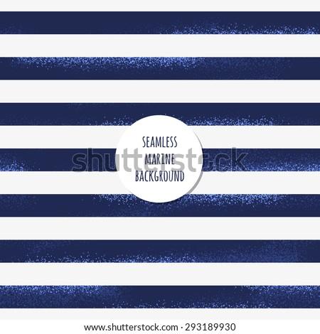 Retro marine background. Grunge striped vest seamless pattern - stock vector