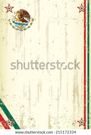 retro mexican background. A vintage mexican background with a texture for your advertising - stock vector