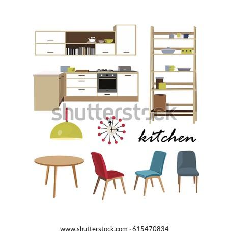 Modern Kitchen Interior Stock Vector 248775145 Shutterstock