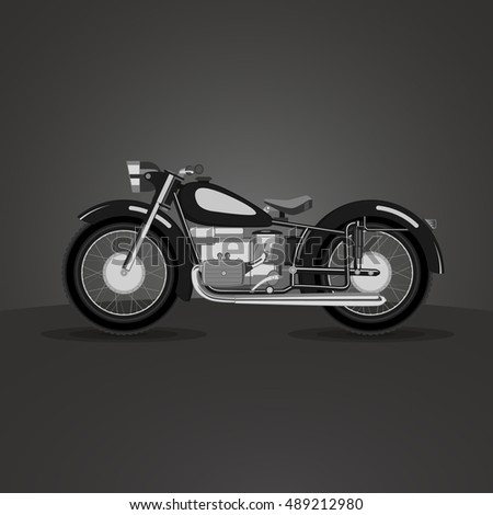 Retro Motorcycle
