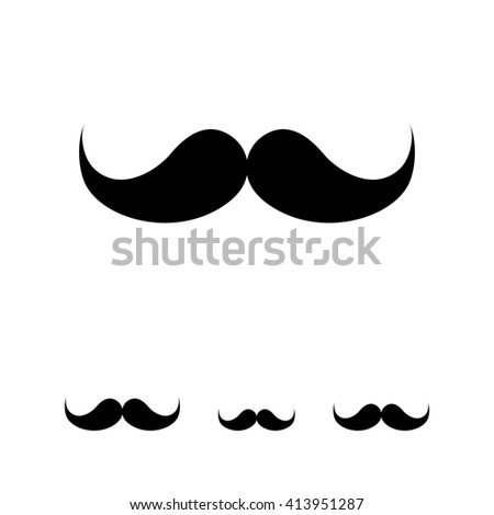 Retro moustache icon