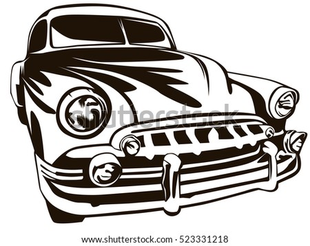 Vector Illustration American Muscle Car Stock Vector