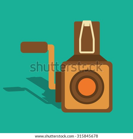 Retro objects and vintage media design, vector illustration - stock vector