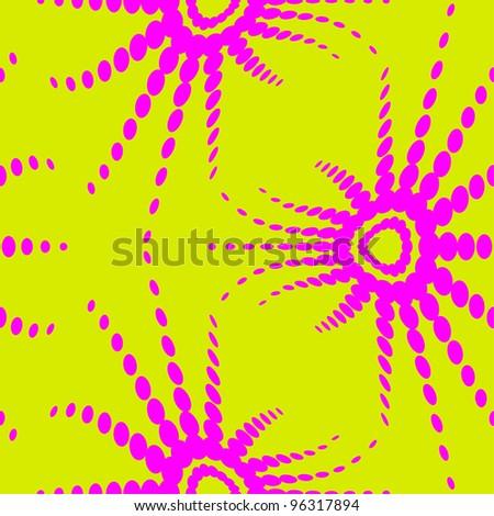 retro optical illusion seamless pattern - stock vector