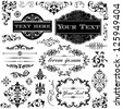 Retro Ornament Set - Collection of Victorian style frames, scrolls and typography ornaments. - stock vector