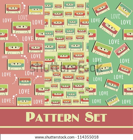 retro pattern collection. vector illustration