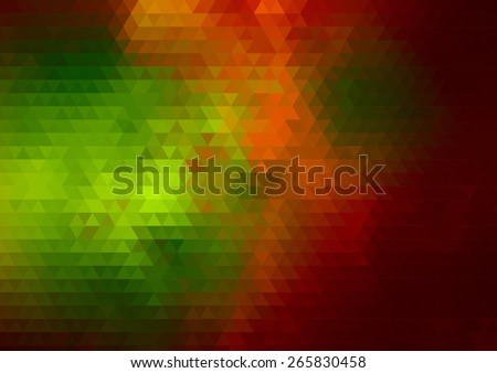 Retro pattern of geometric shapes. Colorful mosaic banners. Retro triangle background. - stock vector