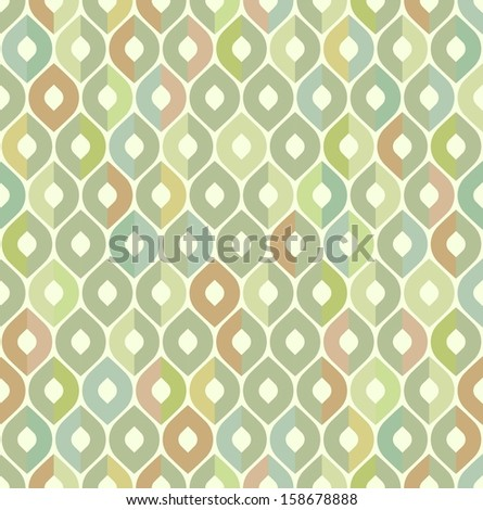 Retro pattern. Vector seamless background. - stock vector