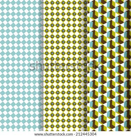 Retro pattern vintage set - stock vector