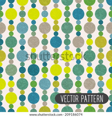 Retro pattern with circles. Bright vector background. - stock vector