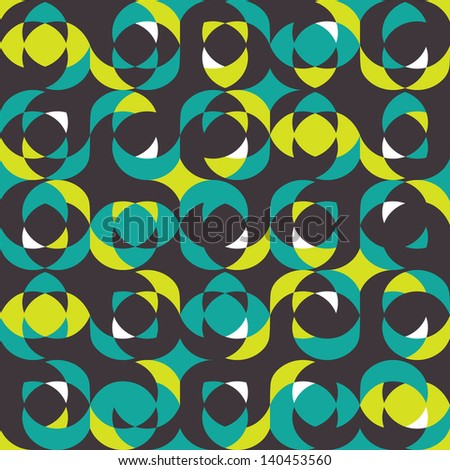 Retro pattern with sphere elements. Vector illustration