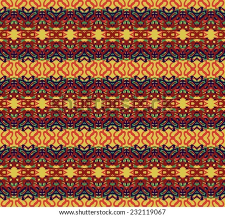 Retro pattern with swirls. EPS 10 vector illustration. seamless red-brown pattern in retro style