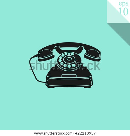 Retro phone Icon.