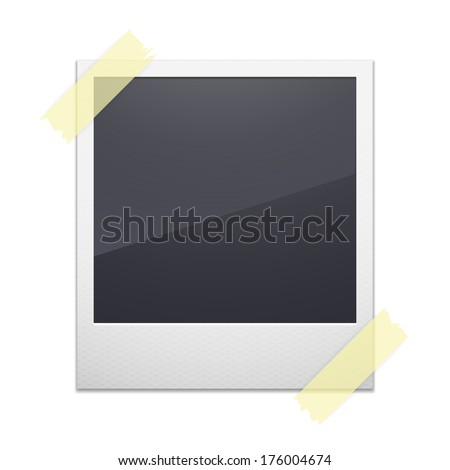 Retro photo frame isolated on white background - stock vector