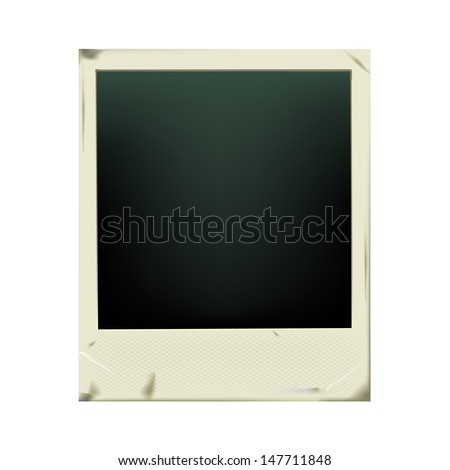 Retro photo frame isolated on white background. Vector illustration EPS 10. - stock vector