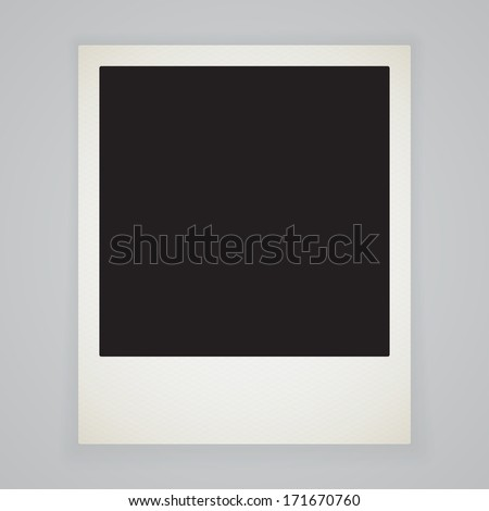 Retro photo frame isolated with shadow - stock vector